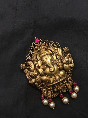 Temple Jewellery Pendants - Gold Lord Ganesha Pendant Manufacturer .