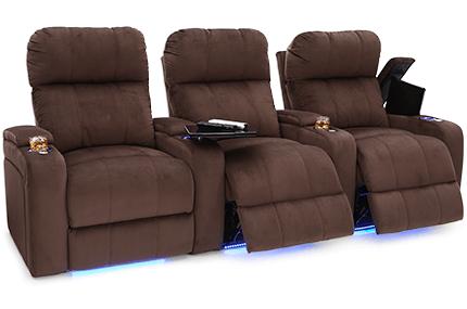 Seatcraft Bonita Fabric Home Theater Seating | 4seati