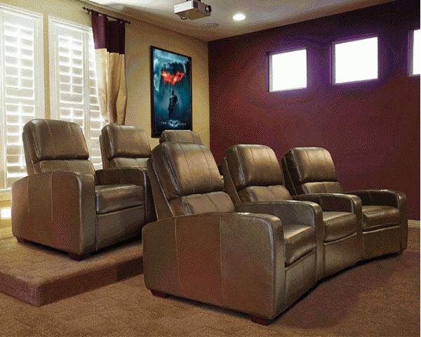 Bello Home Theater Seating- Brown - Stargate Cine