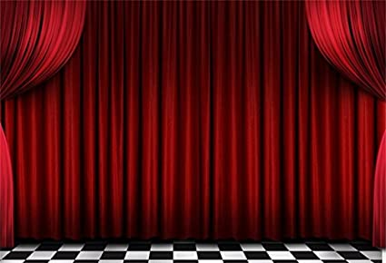 Amazon.com : AOFOTO 7x5ft Red Velvet Stage Curtains Backdrop .