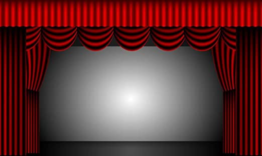 Amazon.com: Laminated 40x24 inches Poster: Theatre Curtains Stage .