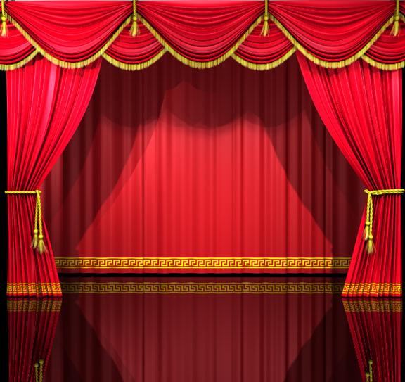 theatre curtains 3d c