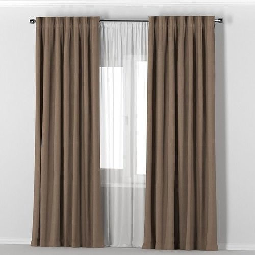 IKEA VILBORG brown thick curtains made of 3D mod