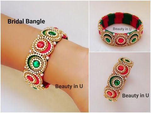 How to make Designer Bridal Bangle at Home | Silk Thread Bangle .