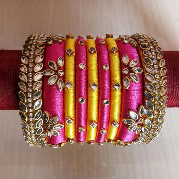 Top 51+ Silk Thread Bangle Designs | ShaadiSa