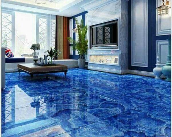 Beautiful | Tiles design for hall, Metallic epoxy floor, Floor .
