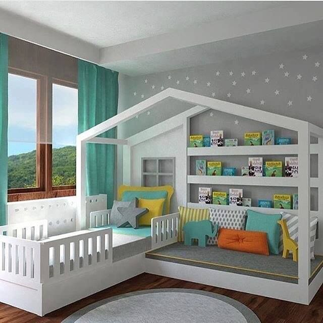 Inspiracion | Toddler house bed, Creative kids rooms, Montessori .