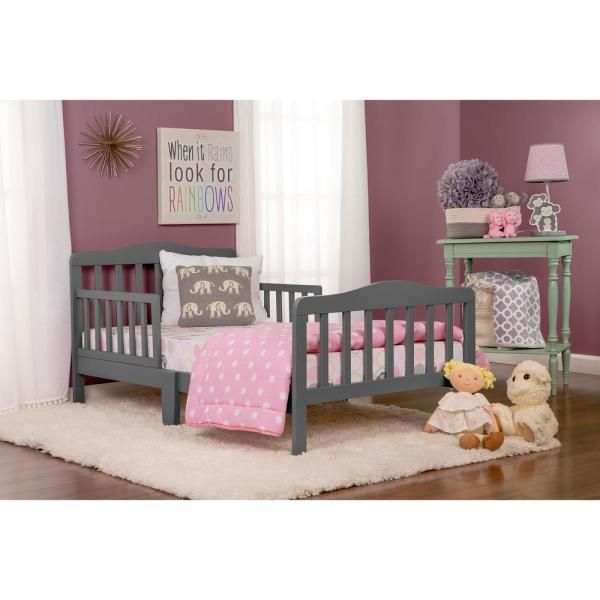 Dream On Me Classic Design Steel Grey Toddler Bed 624-SGY - The .