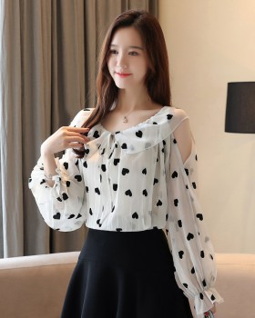Western style chiffon shirt tops for women YW67268 - Yaaku.c