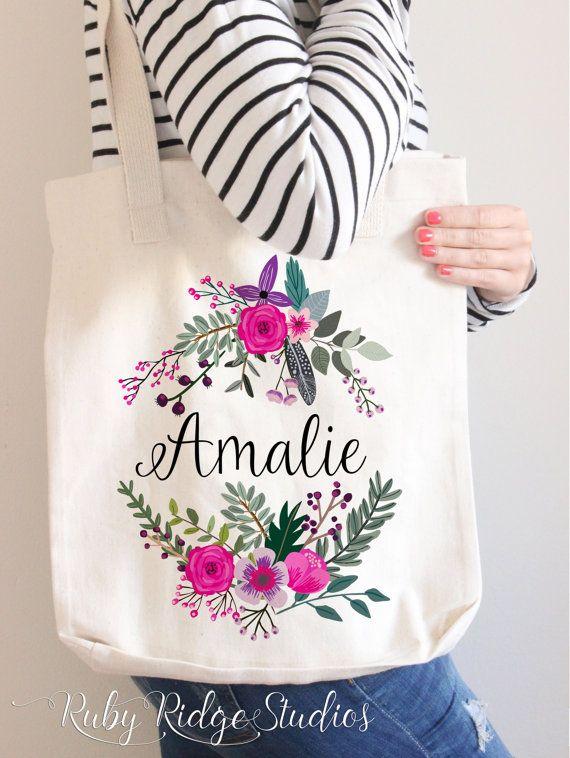 Personalized Premium Tote Bag   Bridesmaid Tote Bag   Bridesmaid .