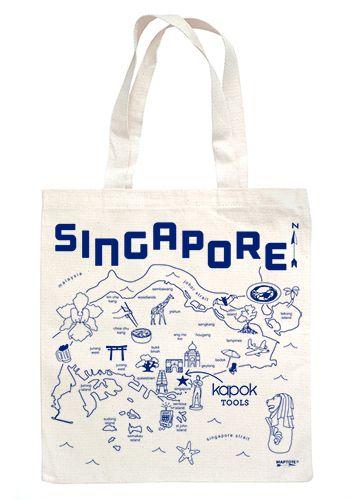 Singapore Maptote for Kapok   Tas, Kanv
