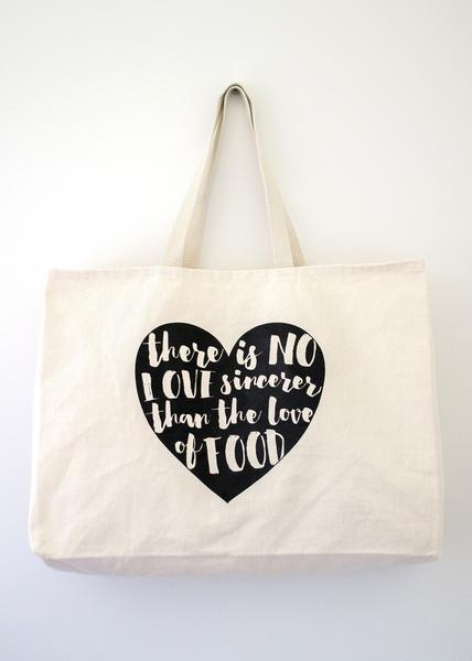 Tote Bags for Foodies | Free Shipping over $50 | Food Love Tote .
