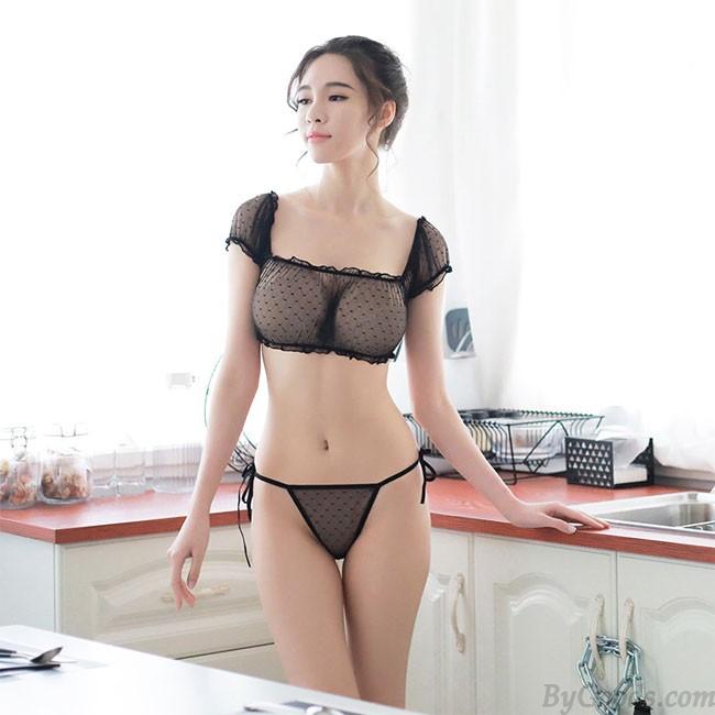 Sexy Transparent Bra Set Underwear Black Lace Women Intimate .