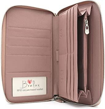 Amazon.com | Brelox Travel Wallet Family Passport Holder - RFID .