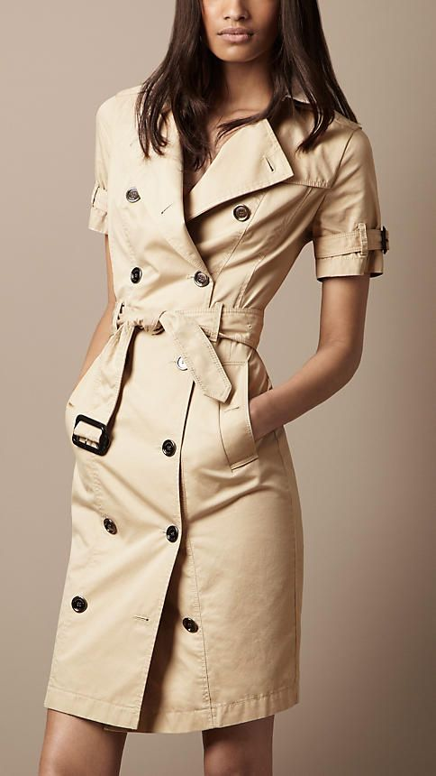 Burberry - COTTON GABARDINE TRENCH DRESS.