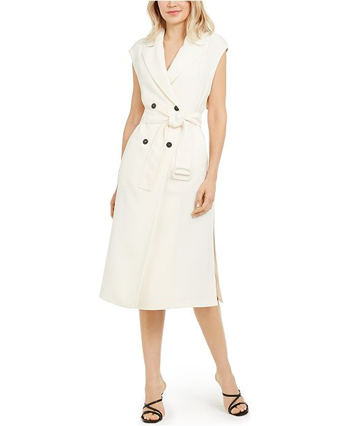 Marella Sleeveless Belted Trench Dress & Reviews - Dresses - Women .