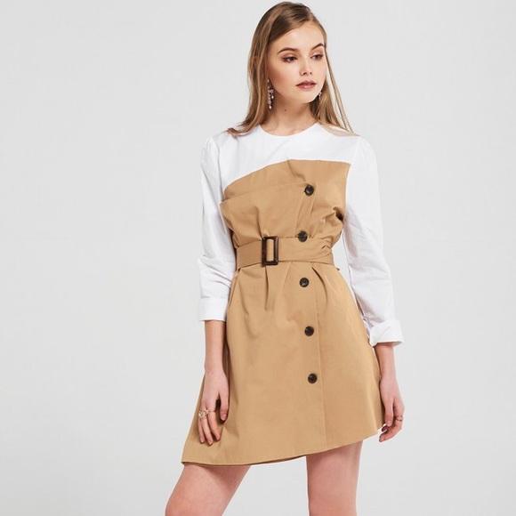 storets Dresses | Felicity Trench Dress With Belt | Poshma