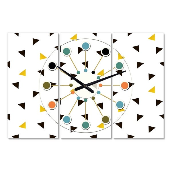 Shop Designart 'Trendy Black and Gold Triangular Pattern .