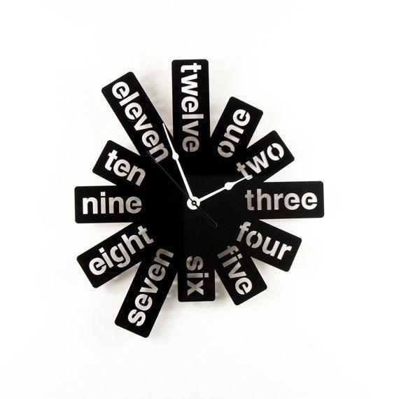 Trendy Black Clocks