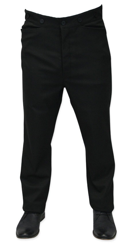 Men's Black Trouser Pants - Men's Black Dress Pants - Western .