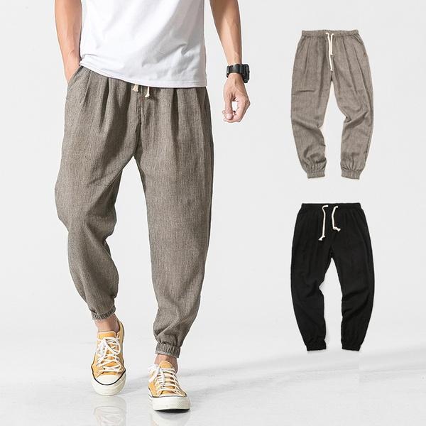 Brand Casual Harem Pants Men Jogger Pants Men Fitness Trousers .