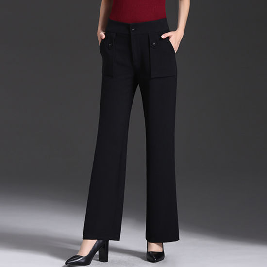 China High Quality New Arrival Black Trousers Casual Pants for .
