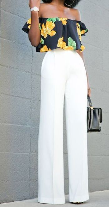 White Pants For Women Best Summer Looks 2020 - LadyFashioniser.c