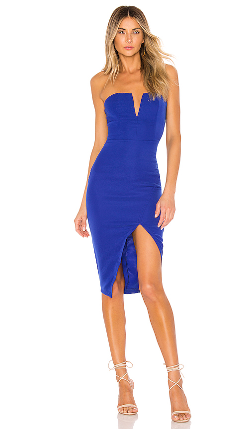 superdown Beatrice Tube Dress in Cobalt | REVOL