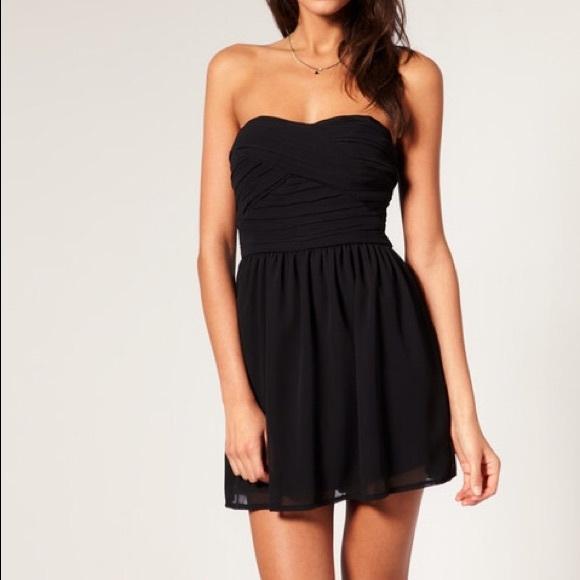 Guess Dresses | Chiffon Mini Strapless Tube Dress Black | Poshma