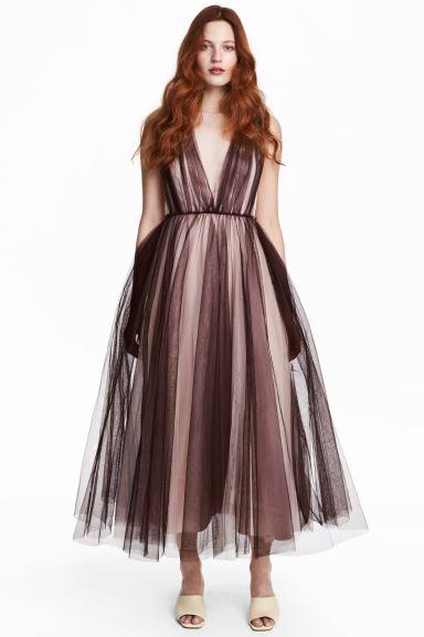 Tulle dress - Plum/Powder - Ladies | H