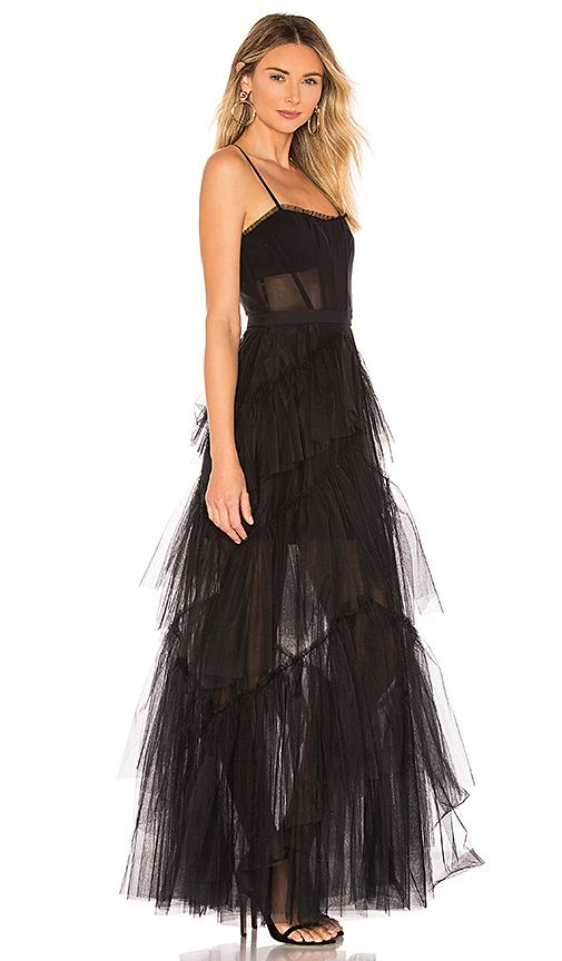 Corset Tulle Gown in Black (With images) | Black corset dress .