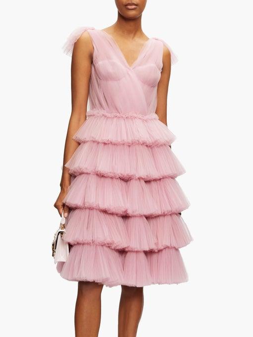 Tiered tulle dress | Dolce & Gabbana | MATCHESFASHION