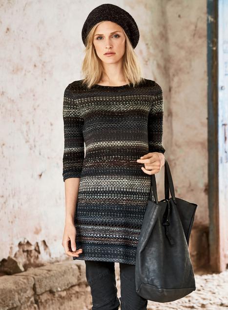 Noche Tunic Sweater, Designer Tunic Sweater, Boho Sweaters .