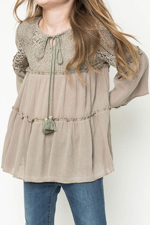 Hayden Clothing Tunic Top for Girls in Olive (With images) | Girls .
