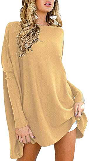 ANRABESS Women's Long Batwing Sleeve T-Shirt Blouse Pullover .