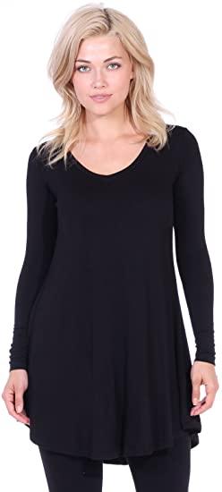Popana Women's Tunic Tops for Leggings Long Sleeve Shirt Plus Size .