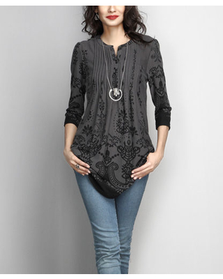 80% Off Reborn Collection Women's Tunics charcoal - Charcoal .