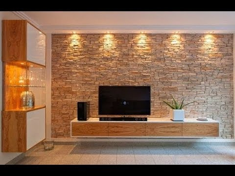 The best Tv unit designs ever / Hall designs / Stone cladding .