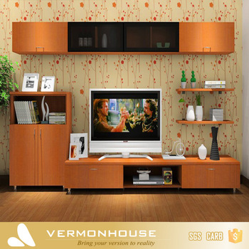 HangZhou Modern Lcd TV Table Wooden Showcase Designs For Hall .