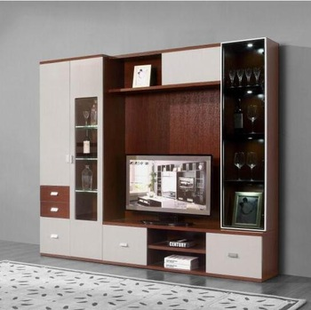 Foshan Lcd Tv Showcase Designs/new Model Tv Stand Wooden Furniture .