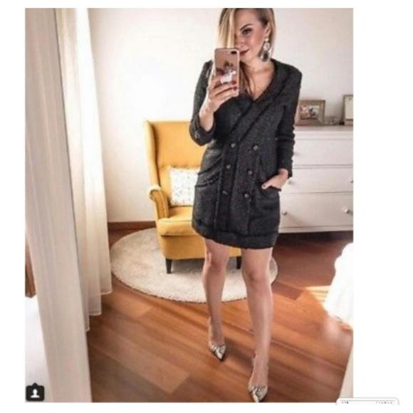 Zara Dresses   Tweed Blazers Dress 8196   Poshma