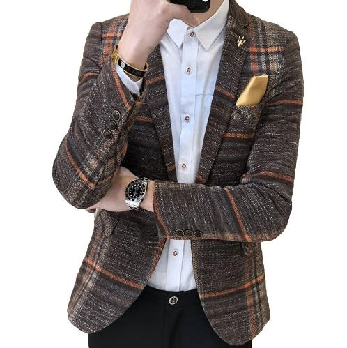 Men's Designer Tweed Blaz