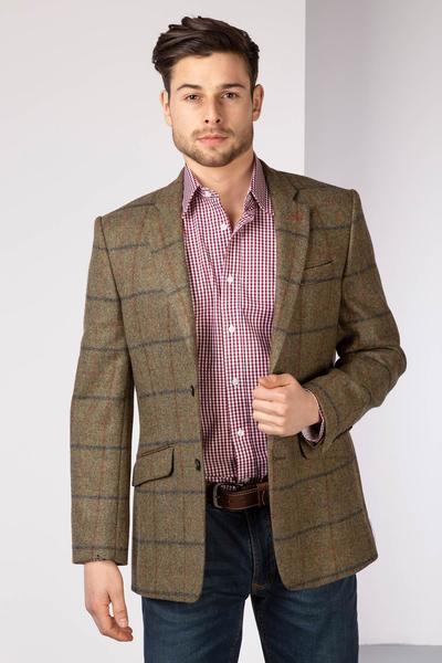 Men's Casual Tweed Jacket UK | Slim Fitting Tweed Blazer | Ryda