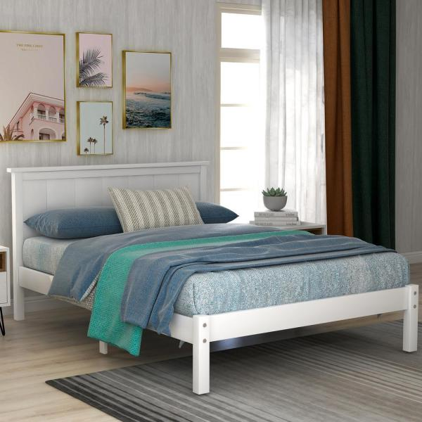 Harper and Bright Designs White Twin Seeley Platform Bed with .