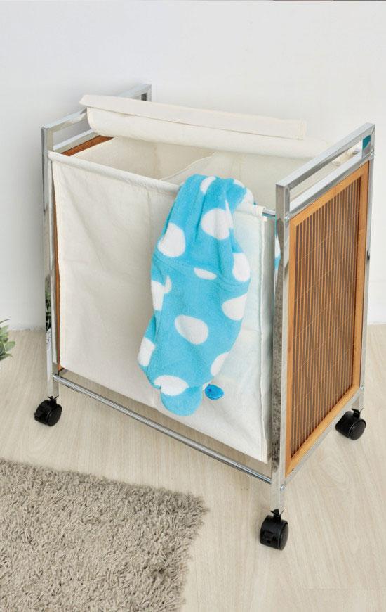 Double Laundry Sorter   Metal Houseware Storage Supplier   pristi