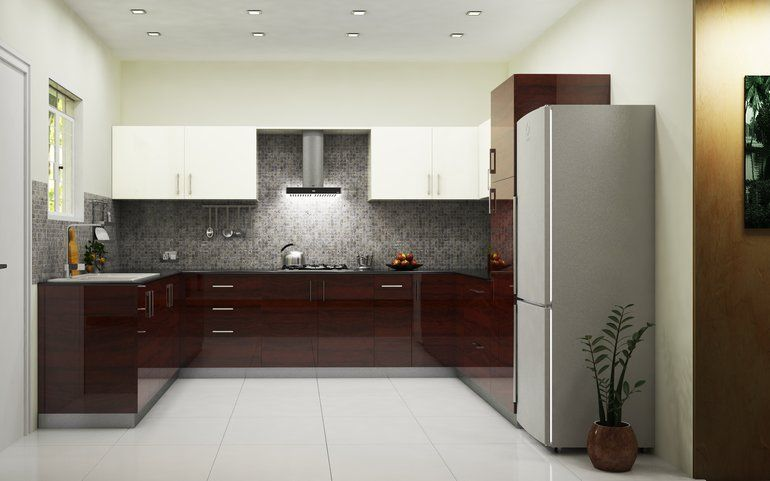 Phoenix Royal U-Shaped Kitchen | L shaped modular kitchen, Kitchen .