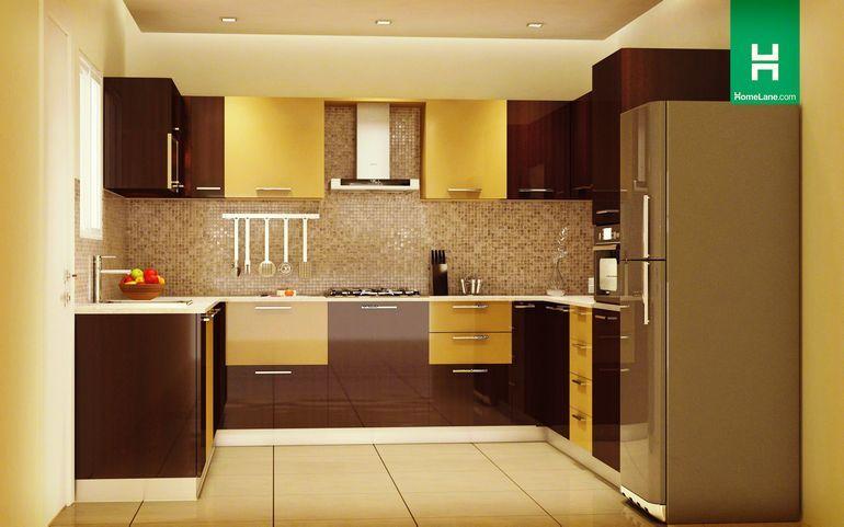 Robin Rich U-Shaped Kitchen | Max on utility, minimum on clutter .