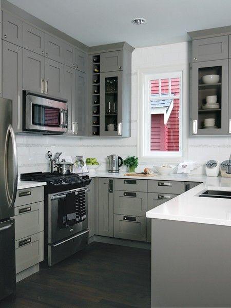 Suzie: Kelly Deck Design - U shaped kitchen design with gray .