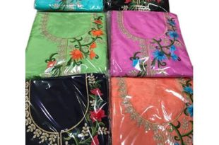 Cotton Round Neck Embroidered Unstitched Salwar Suits, Rs 2300 .