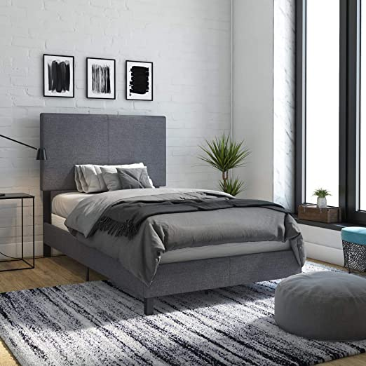 Amazon.com: DHP Janford Upholstered Bed with Chic Design, Twin .